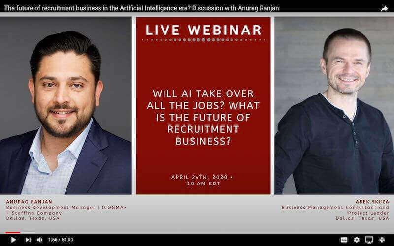 Anurag Ranjan and Arek Skuza Artificial Intelligence webinar welcome screen