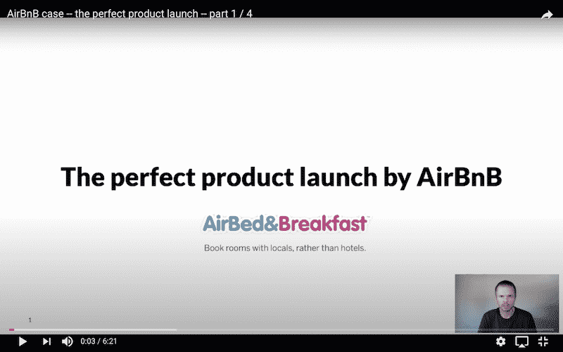 The perfect product launch by AIrBnB video cover