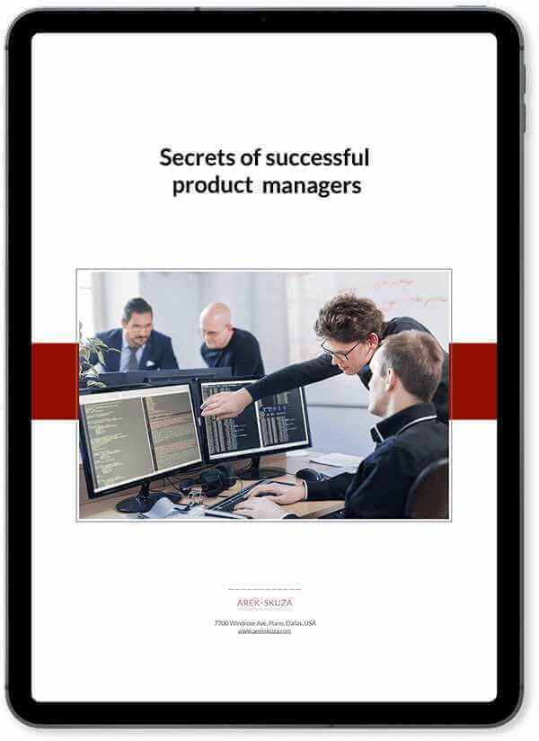 Secrets of succesfull product managers ebook cover