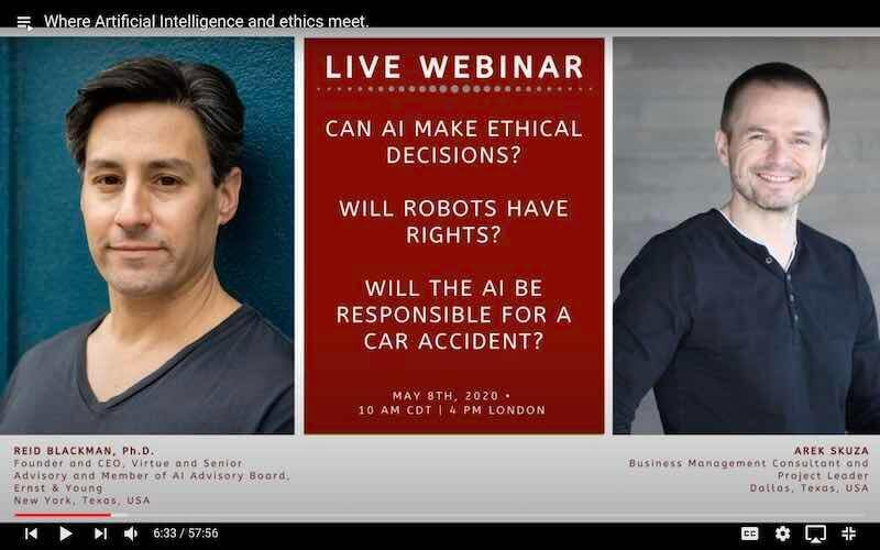 Where Artificial Intelligence and ethic meet. Covnersationw with Reid Blackman