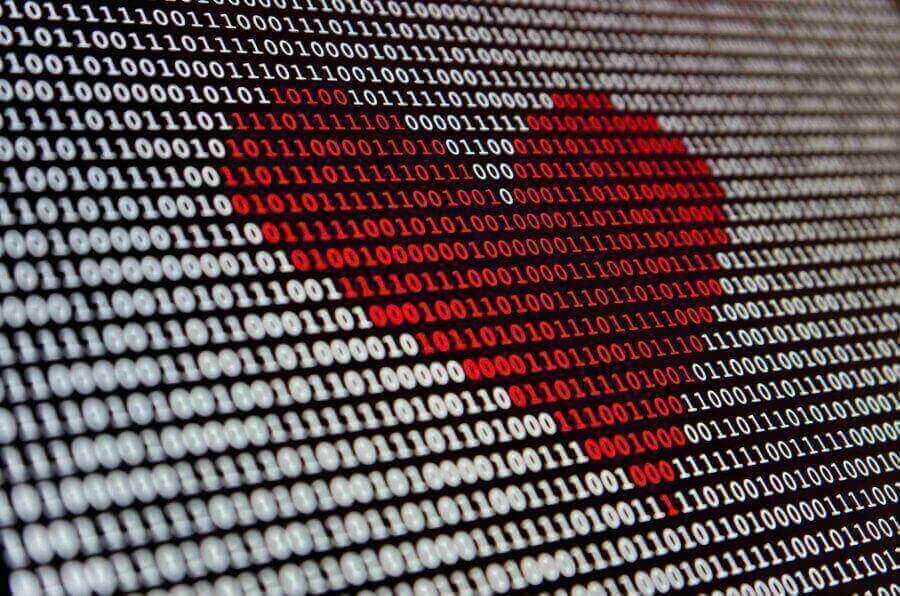 digital heart created by machine learning model