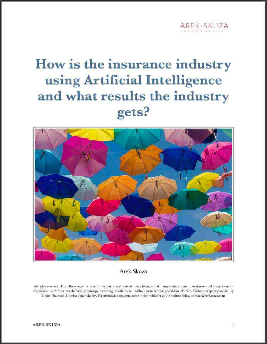 How is insurance industry using Artificial Intelligence ebook cover